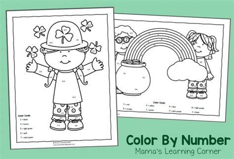 Color By Number Worksheets For March St Patrick S Day Color By Number One Marching With Picture