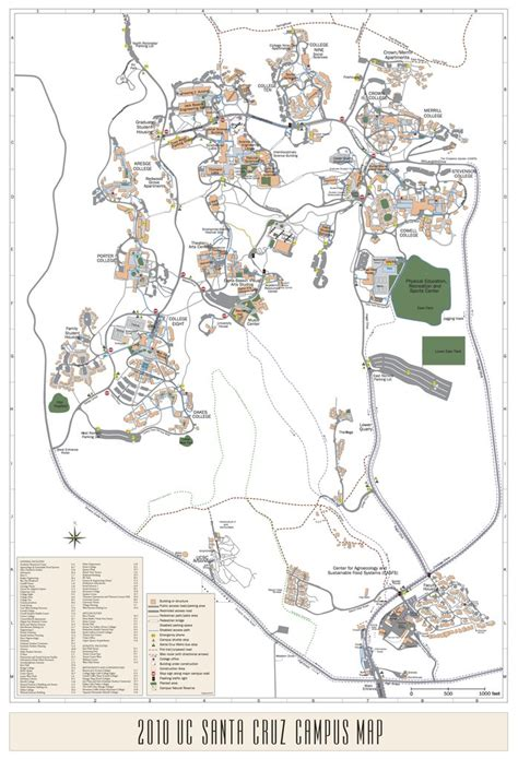 ucsc map ucsc of california santa maplets