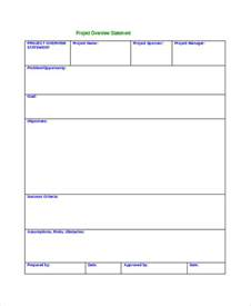 7 project overview templates free word pdf documents