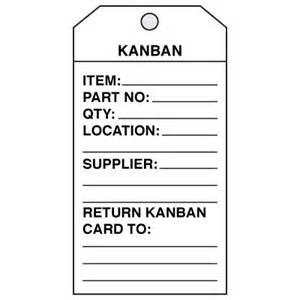 kanban cards from seton com stock items ship today
