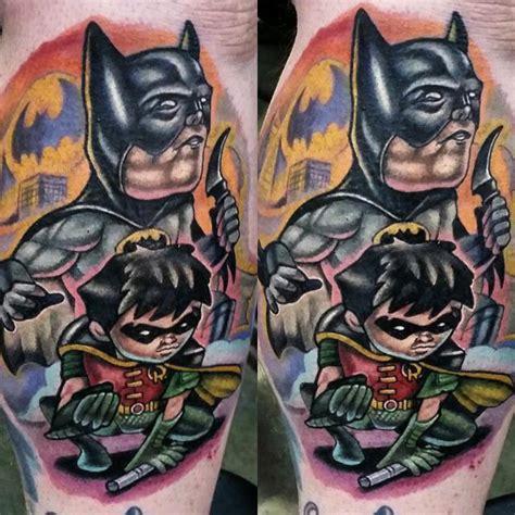 cartoon robin tattoo batman and robin by adam aguas tattoonow