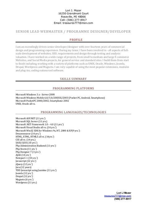 senior user experience designer resume 28 images weiling wang resume resume web development