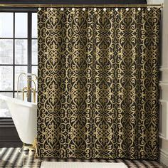gold shower curtain on pinterest | blue shower curtains