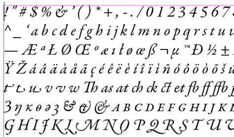 typography sheet make a font quot contact sheet quot in indesign indesignsecrets