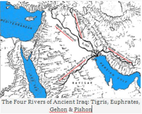 map of iraq rivers observations of ancient iraq rivers prove pre deluge et