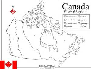 blank physical map of canada canadainfo images downloads fact sheets to