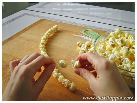 stringing popcorn for christmas how to make popcorn crafts for s day just poppin popcorn