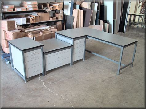 l shaped work bench l shaped tables at rdm industrial products la 109p