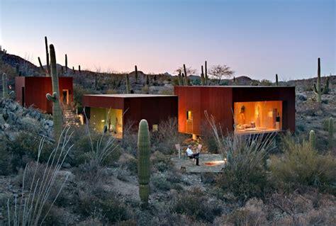 nestled between cactuses the desert nomad house arizona