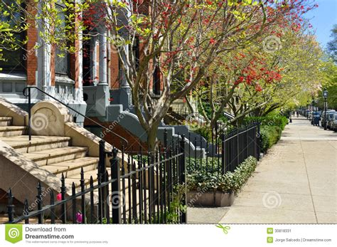 New England Style House Plans spring foliage in boston back bay stock image image