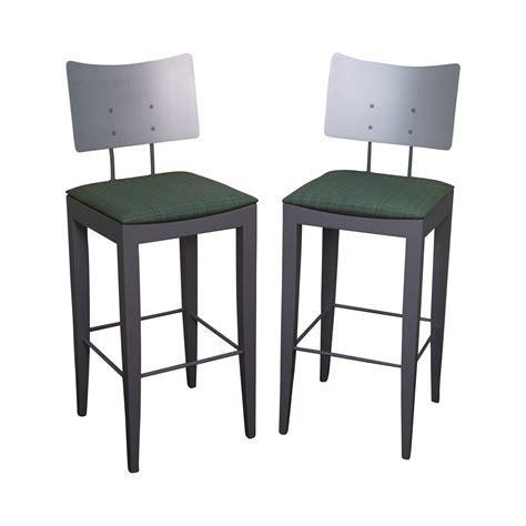 italian bar stools tenon italian modern bar stools pair chairish