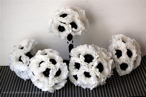 Wedding Black And White by Black And White Wedding Anemone Wedding Order Handmade