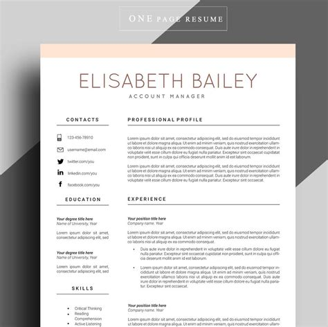 resume cv format resume template cv template professional resume template