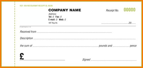 receipt book template pdf 6 receipt book template expense report