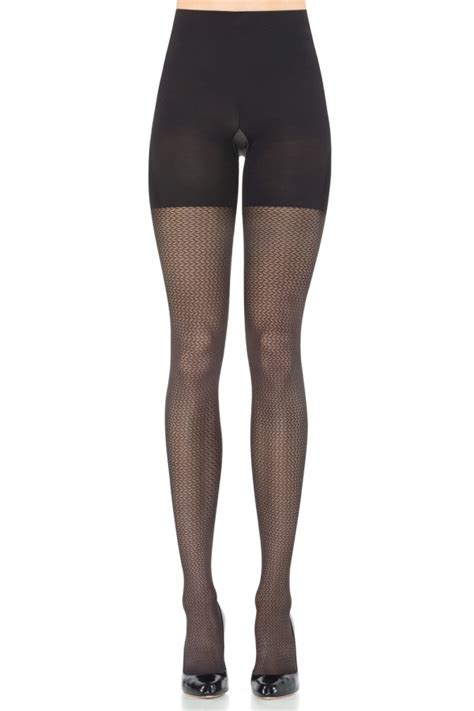 patterned tights control top spanx patterned tight end tights pucker up 2141 women s