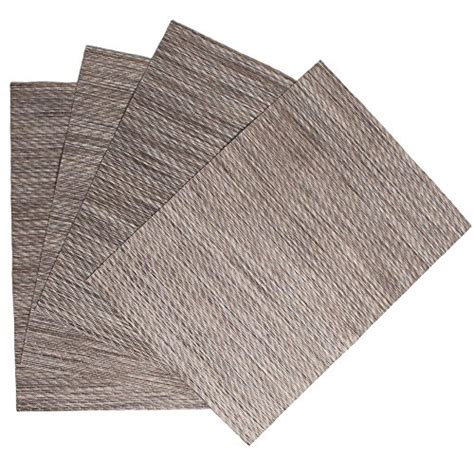 Vinyl Woven Placemats Factory Cheap by Benson Mills Twill Woven Vinyl Placemats Set Of 4 Almond