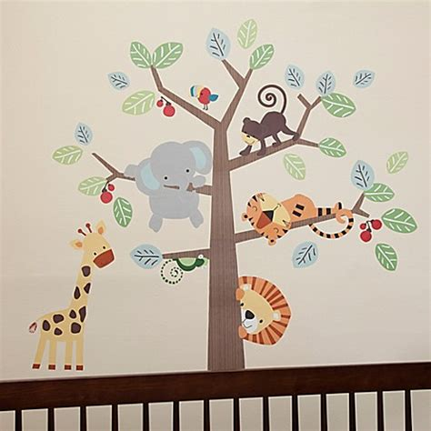 Baby Wall Decorations For Nursery Lambs 174 Treetop Buddies Wall Decals Set Of 4 Bed Bath Beyond