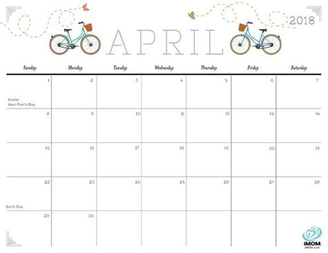 printable calendar imom 2018 pretty april 2018 calendar printable mathmarkstrainones com