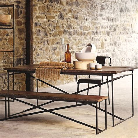 recycled wood dining table recycled wood dining table iron accents
