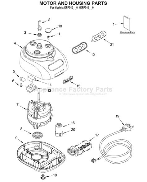 kitchen aid appliance parts parts for kfp740wh0 kitchenaid small appliances