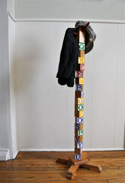 Diy Rack by Building Block Coat Rack 9 Diy For