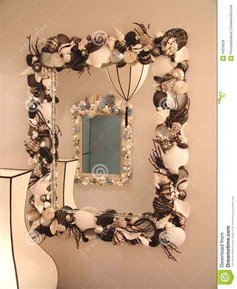 Rear View Mirror Chandelier Mirror In The Mirror Royalty Free Stock Image