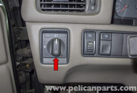 volvo  headlight switch replacement   pelican parts diy maintenance article