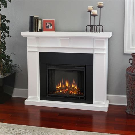 overstock electric fireplace real porter white electric fireplace
