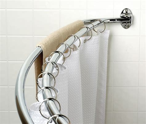 double shower curtain rod double curved shower curtain rod furniture ideas