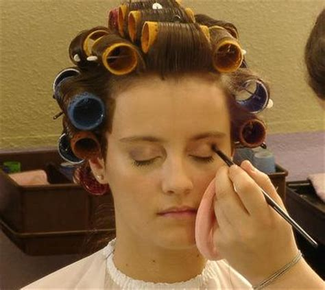 forced to wear hair rollers curlers and makeup flickr photo sharing