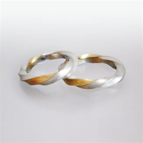 Partnerringe Silber Gold by Partnerringe Gold Silber Atelier F 252 R
