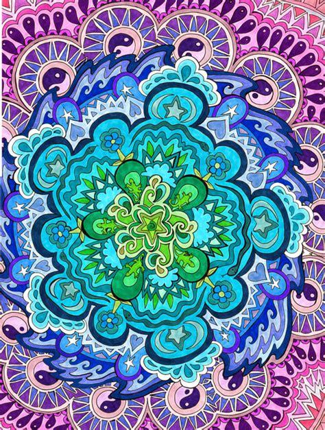 doodle significato italiano sta mandala mistico verde viola spirituale pittoresco