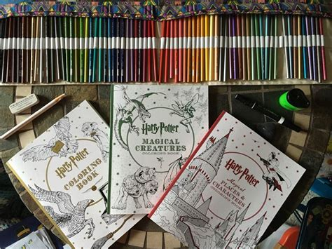 harry potter coloring book completed harry potter coloring books harry potter amino