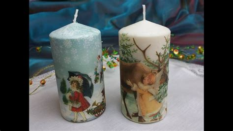 candele decorate candele decorate con trasferimento di immagine tutoria