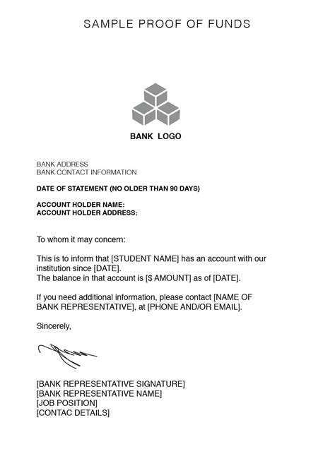 Proof Of Funds Letter Mortgage proof of funds letters botbuzz co