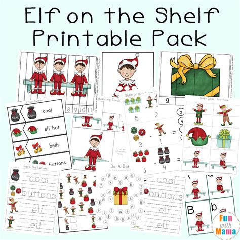printable elf on a shelf pictures free elf on the shelf worksheets activities fun with mama