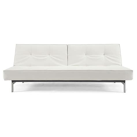 Sleeper Sofa White Splitback Sofa Sleeper In Stainless White Eurway