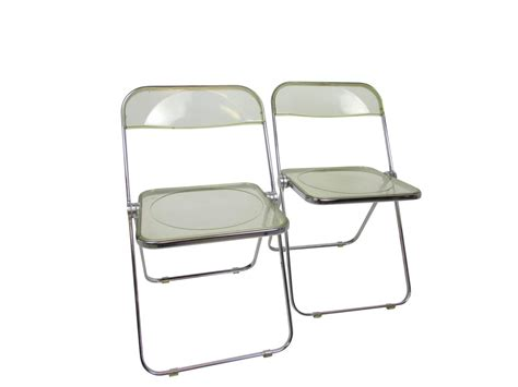mid century lucite acrylic plia folding chair at 1stdibs