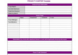 templates for projects project team charter template images