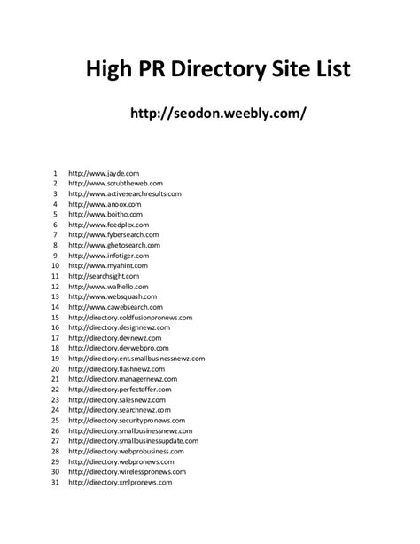 high pr pligg sites high pr directory site list 2013