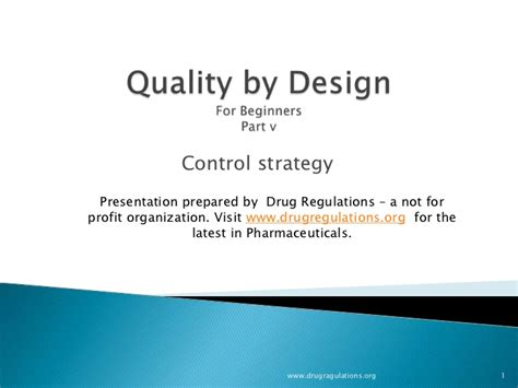design experiment control quality by design control strategy