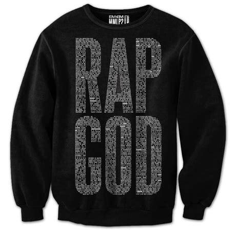 Sweater Eminem Recovery 2 rap god sweater eminem on the hunt