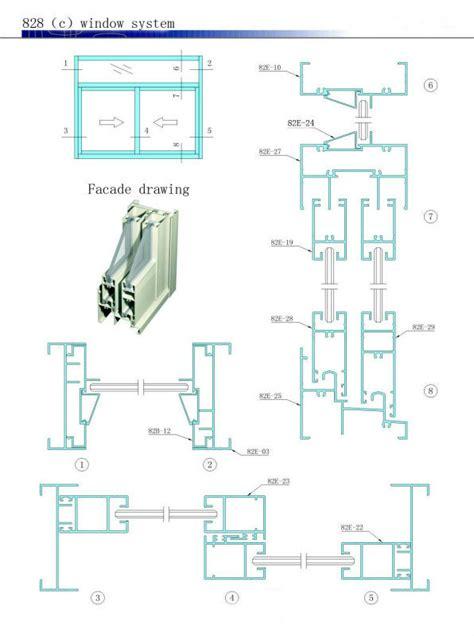 standard aluminum sections white painting standard aluminum sliding windows and doors