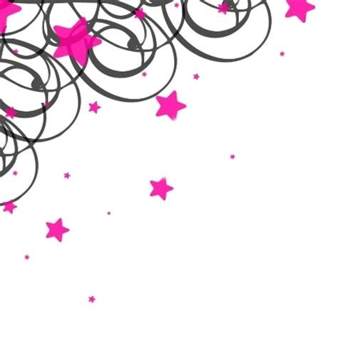 pink pattern border star page borders cliparts co