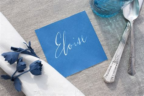 How To Make Sun Print Paper - sunprint place card tutorial