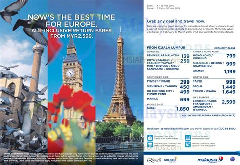 malaysia airlines from rm70 domestic international promo fares 4 15 feb 2015