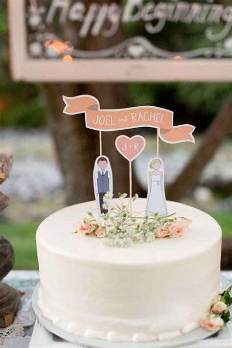 Backyard Wedding Cake Ideas by Cake Topper Real Wedding Burlap Backyard Wedding