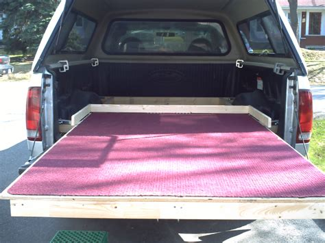 slide out truck bed homemade truck bed slide out