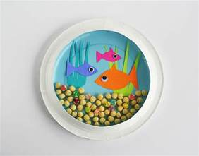 kid crafts kid craft paper plate aquarium inspiration diy