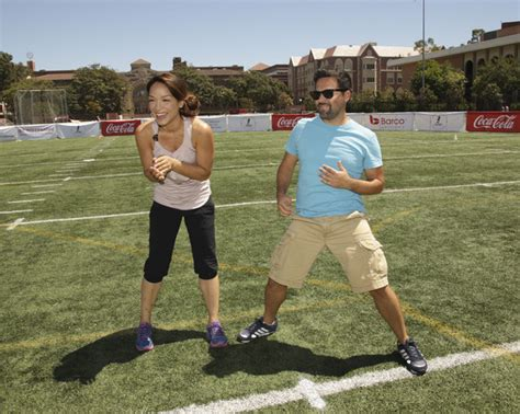 celebrity house challenge mayte garcia in kickball for a home celebrity challenge